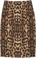 Giambattista Valli Leopard print Cotton Pencil Skirt - Lyst