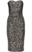 Marchesa Notte Marchesa Notte Sequined Cocktail Dress - Lyst