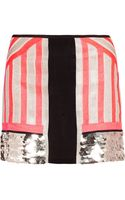 Sass & Bide All Good Things Embellished Neon Silk Skirt - Lyst