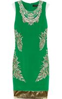 Thakoon Embellished Silkcrepe Dress - Lyst