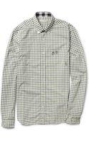 Burberry Brit Gingham Check Slimfit Cotton Shirt - Lyst