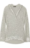 Donna Karan New York Hooded Sequined Cashmereblend Sweater - Lyst