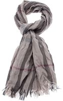 Burberry London Woven Check Scarf - Lyst