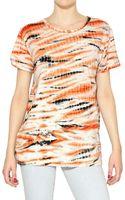 Proenza Schouler Tie Dye Cotton Jersey T-shirt - Lyst
