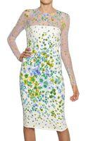 Versace Flower Devore On Viscose Cady Dress - Lyst