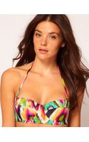 Asos Ikat Print Padded Longline Fuller Bust Bikini Top - Lyst