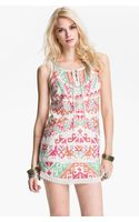 Free People Andean Embroidered Mini Dress - Lyst