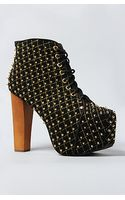 Jeffrey Campbell The Lita Quilt Shoe in Black and Gold - Lyst