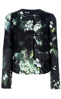 Dolce & Gabbana Lace Panel Floral Cardigan - Lyst