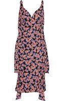 L'Wren Scott Flag Print Silk Dress - Lyst