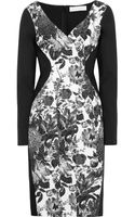 Stella McCartney Floral Print Cotton-Blend and Stretch-Crepe Dress - Lyst