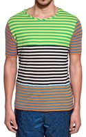 Adidas Originals x Opening Ceremony Striped Cotton Jersey Tshirt - Lyst