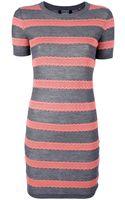 Markus Lupfer Stripe Lace Knit Dress - Lyst