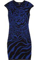 McQ by Alexander McQueen Tigerprint Knitted Dress - Lyst