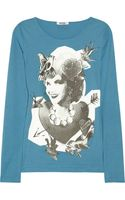 Moschino Cheap & Chic Printed Cottonjersey Top - Lyst