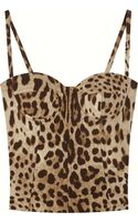 Dolce & Gabbana Stretch Silk Charmeuse Bustier Top - Lyst