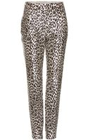 Valentino Leopard Print Duchess Satin Trousers - Lyst