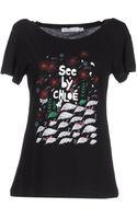 See By Chloé Short Sleeve Tshirt - Lyst