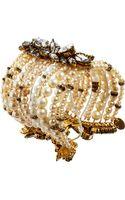 Erickson Beamon Pearl Crystal Large Multistrand Bracelet - Lyst