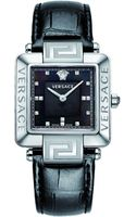 Versace Reve Carre Alligatorembossed Bracelet Watch - Lyst