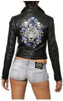 Philipp Plein Embroidered Nappa Leather Jacket - Lyst