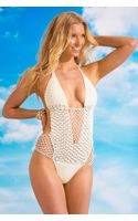 Beauty & The Beach Sway Crochet Monokini - Lyst
