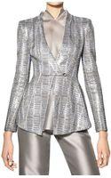 Giorgio Armani Swarovski Crystals On Silk Piquet Jacket - Lyst