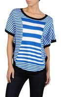 Armani Jeans Striped Sweater with Soft Sleeve and AJ Logo - Lyst