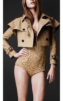 Burberry Prorsum Dynamic Gabardine Trench Jacket - Lyst