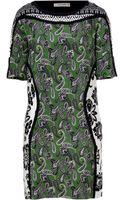 Etro Blackmulti Printed Silk Dress - Lyst