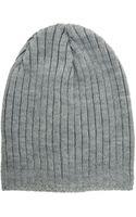 Asos Asos Short Rib Beanie Knit Beanie - Lyst