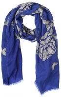 Elsa Marotta Butterfly Printed Cashmere Scarf - Lyst