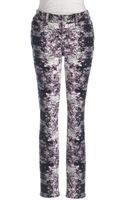 DKNY Printed Denim Leggings - Lyst
