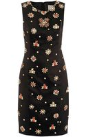 Jason Wu Embellished Satin Sheath Dress - Lyst