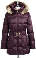 Laundry By Shelli Segal Faux Fur Hooded Quilted Coat - Lyst