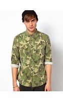River Island Camo Shirt - Lyst