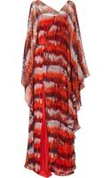 Amanda Wakeley Printed Silkchiffon Maxi Dress - Lyst