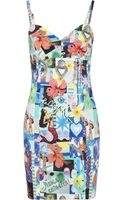 Lulu & Co Printed Cotton Dress - Lyst