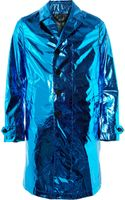 Burberry Prorsum Metallic Silk Rain Coat - Lyst