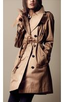 Burberry Brit Long Heavy Cotton Twill Trench Coat - Lyst
