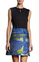 Proenza Schouler Sleeveless Multicolor Tweed Skirt Dress - Lyst