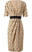 Giambattista Valli Leopard Printed Silk Dress - Lyst