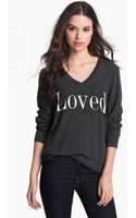 Wildfox Loved Graphic Sweatshirt - Lyst