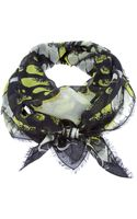 McQ by Alexander McQueen Blotchy Floral Print Scarf - Lyst