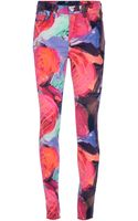 J Brand x Christopher Kane Floral Print Trousers - Lyst
