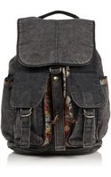 Topshop Aztec Acid Wash Backpack - Lyst