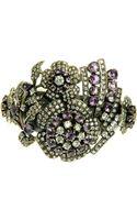 L'inde Large Silver Flower Bracelet - Lyst