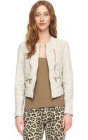 Michael Kors Leather Jacket - Lyst