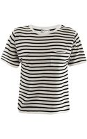 Saint Laurent Breton Stripe Fineknit Sweater - Lyst