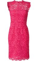 Valentino Hot Pink Lace Dress - Lyst
